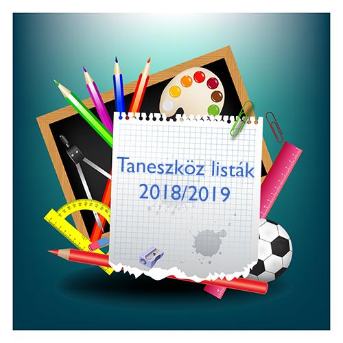 Taneszközlista 2018-2019 MÓDOSÍTVA